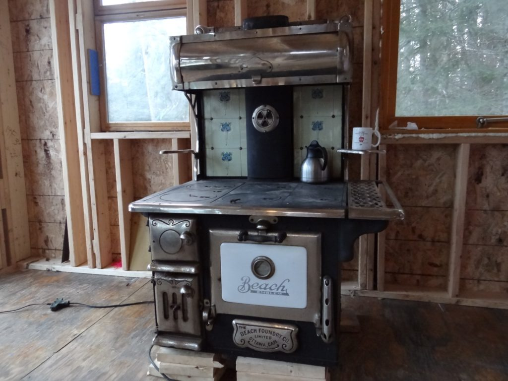 Blue House Construction Cook Stove