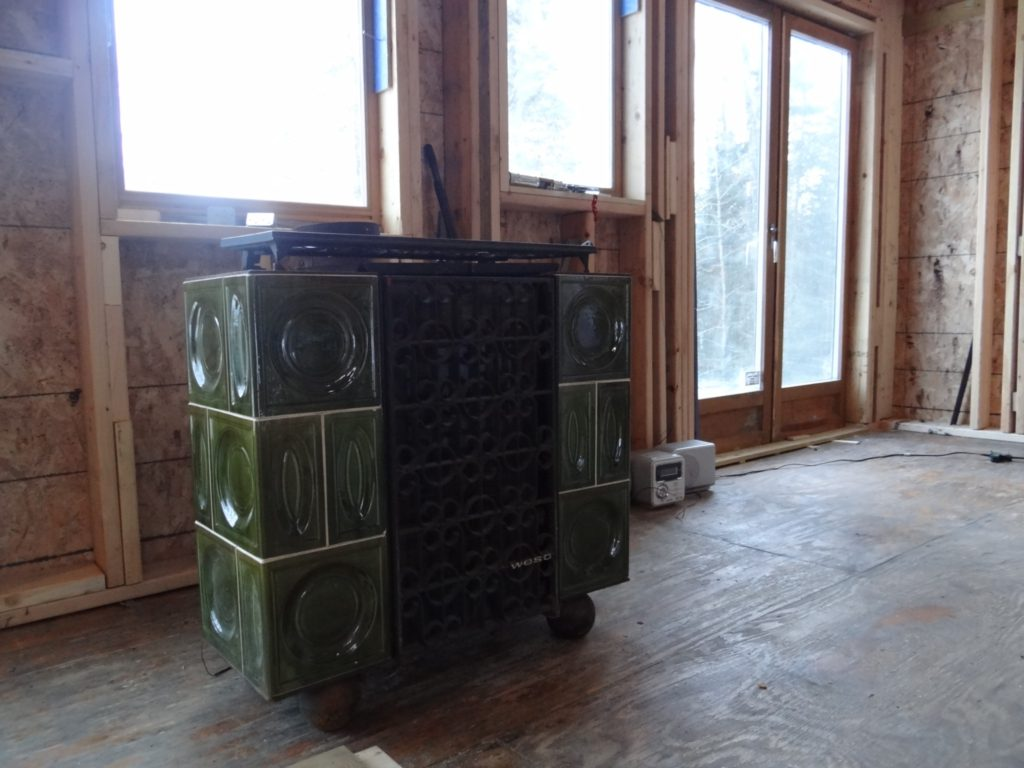 Blue House Construction Stove