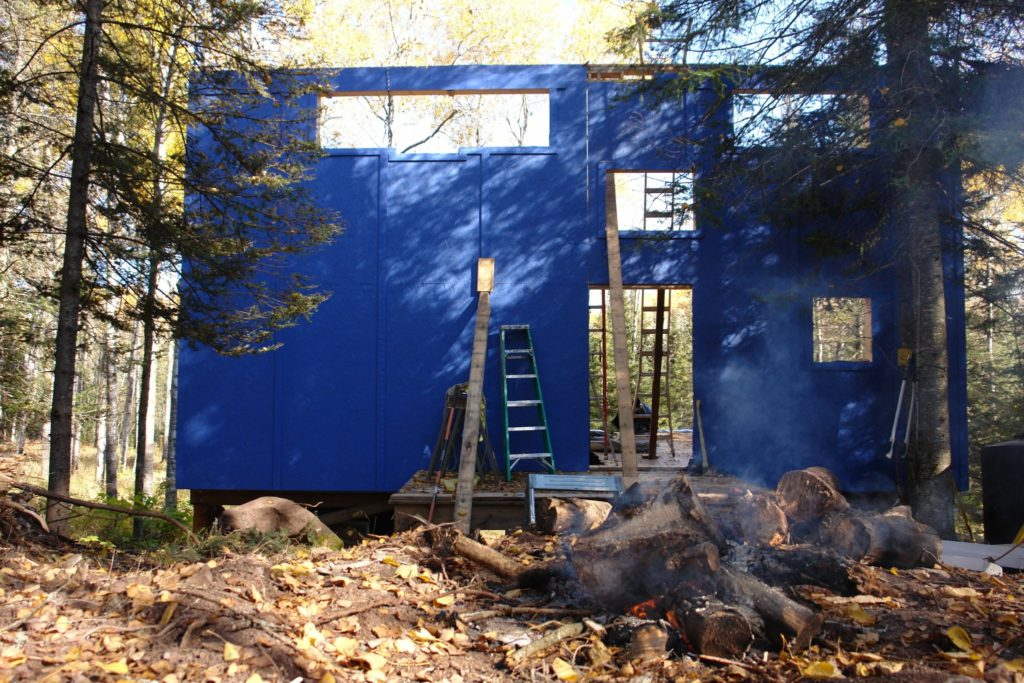 Blue House Construction exterior