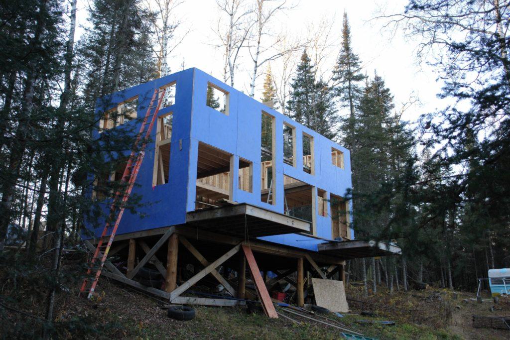Blue House Construction framing 3
