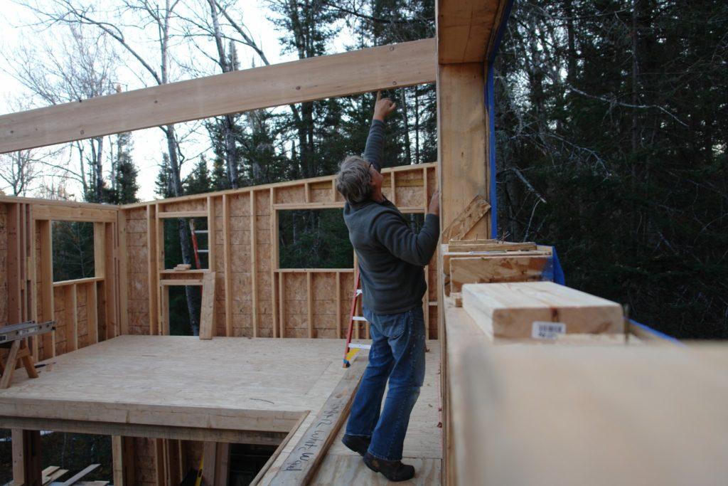 Blue House Construction framing 5