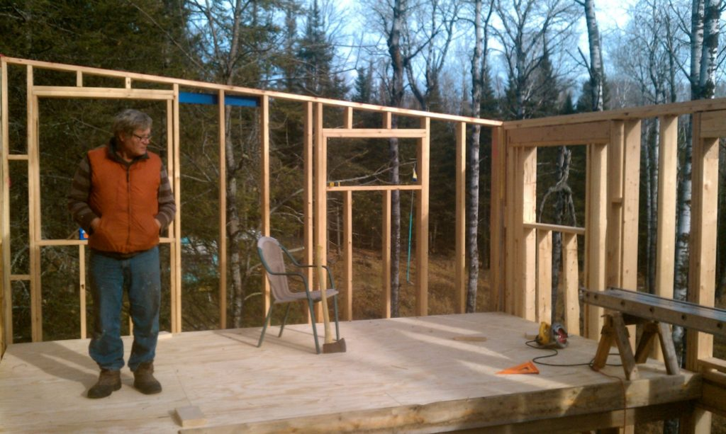 Blue House Construction framing 6