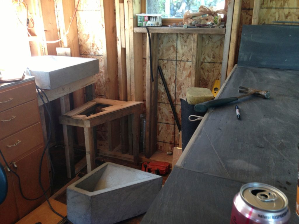 Blue House Construction kitchen 2