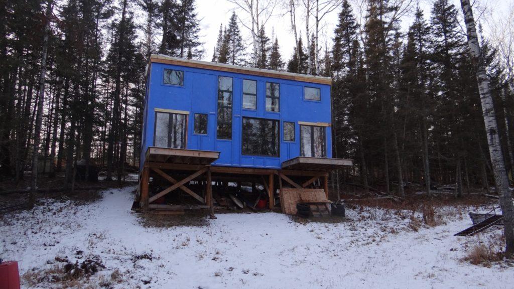 Blue House Construction outside 2