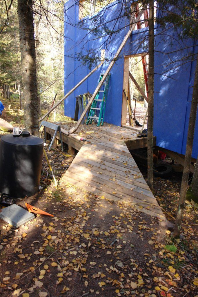 Blue House Construction path