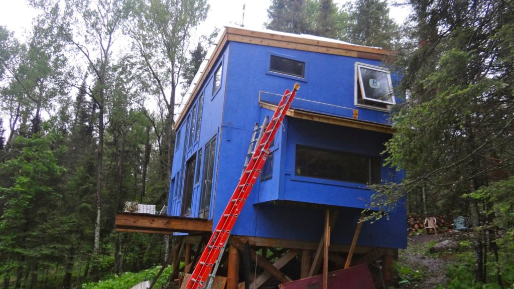 Blue House Construction roof1