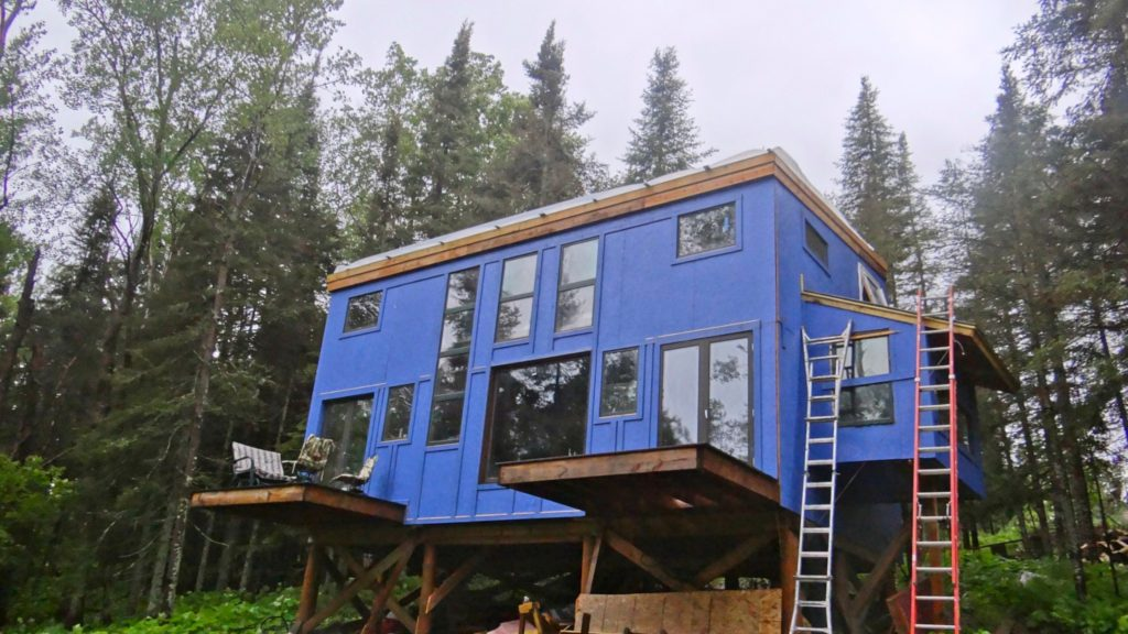Blue House Construction roof2