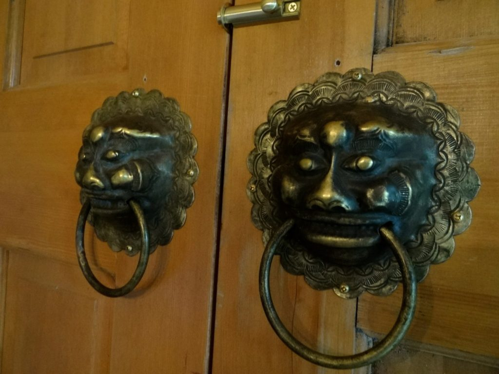 Blue House door knockers