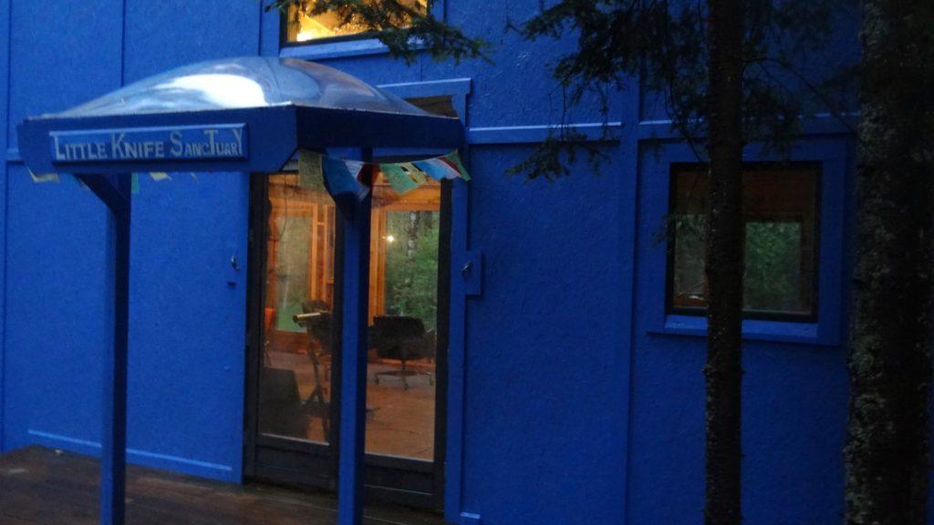 blue house done front door